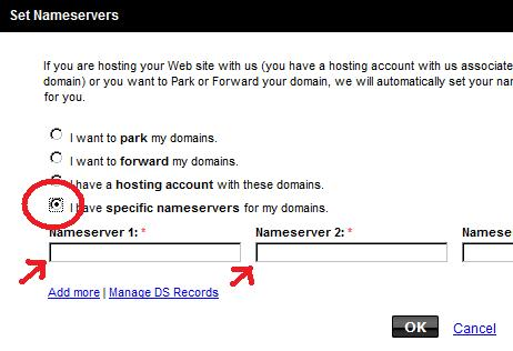 Setting nameservers on your Godaddy account