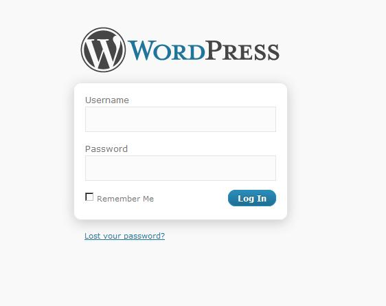 Accessing WordPress dashboard