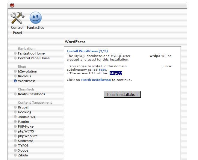 Installing WordPress 2/3