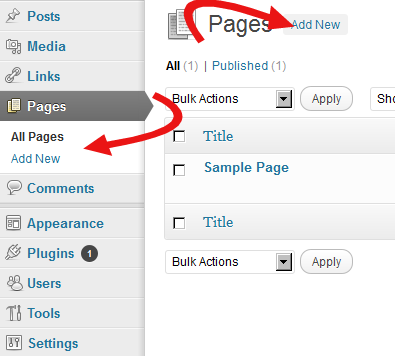 Creating a WordPress Page