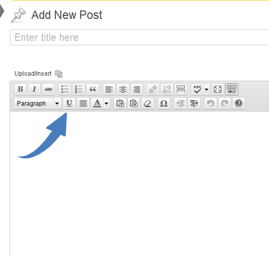 Inserting a WordPress post