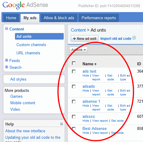how to use google adsence code