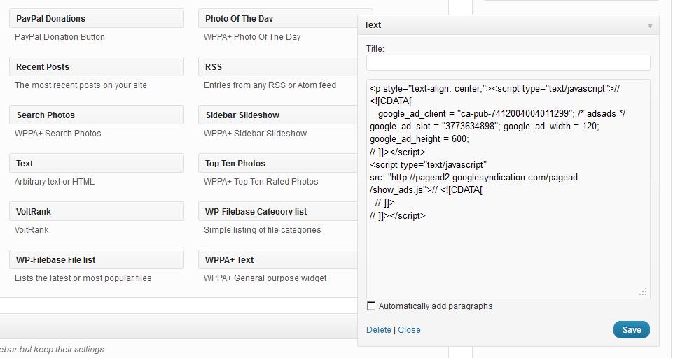 html text widget