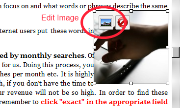 Edit a WordPress image