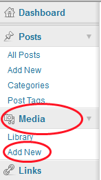 Wordpress media library